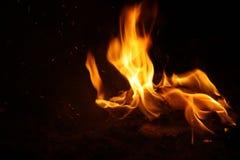 卷曲的火焰 库存照片