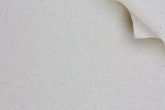 卷曲的灰色纸张 免版税图库摄影