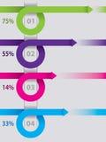 象infographic设计的卷曲的箭头图 库存例证