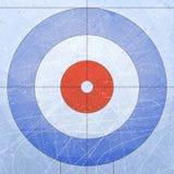卷曲的议院 体育运动 构造蓝色冰 滑冰场 背景花新例证离开牛奶向量 免版税库存照片