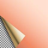 卷曲的铜箔空白传染媒介空标识符 库存例证