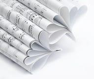 卷曲纸页 免版税库存图片