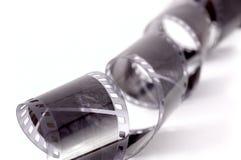 卷曲黑白影片的特写镜头图象 免版税库存照片