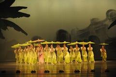 卷柏其次moellendorfii舞蹈过去的戏曲沙湾事件Hieron-The行动  免版税库存照片