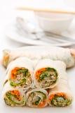 卷样式菜越南语 库存照片