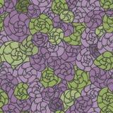 贝类卷毛仿造,紫色和绿色 库存照片