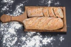 卷添面包与南瓜籽 免版税库存图片
