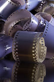 卷的特写镜头35 mm胶片 免版税库存图片