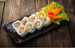 卷设置了寿司 免版税库存图片