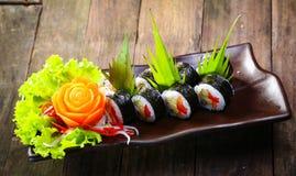 卷设置了寿司 免版税图库摄影