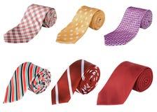 卷起的企业领带 库存照片