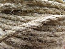 绳索卷起的子线  免版税图库摄影