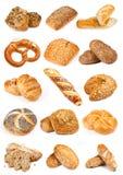 卷面包和面包海报 库存照片