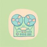 卷轴对录音磁带记录器 免版税库存照片