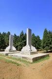 卸下在东部皇家坟茔的石建筑风景 库存照片