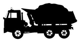 卸车翻斗车装载了 向量例证