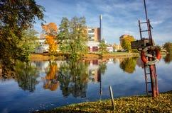 厄勒布鲁大学医院,瑞典 库存照片