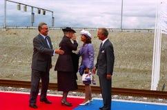 厄勒海峡LINKBRIDGE正式开幕  库存图片