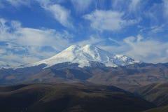 厄尔布鲁士峰。 北部高加索 免版税库存照片