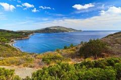 厄尔巴岛海岛- Lacona海湾 库存照片