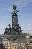 厄恩斯特Rietschel雕象在德累斯顿-德国 库存图片