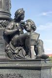 厄恩斯特Rietschel雕象细节在德累斯顿-德国 库存照片