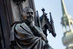 厄恩斯特Rubenowdenkmal大学的格赖夫斯瓦尔德莫里茨Arndt 免版税库存照片