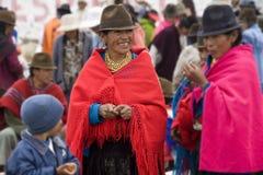 厄瓜多尔厄瓜多尔人妇女 免版税库存照片