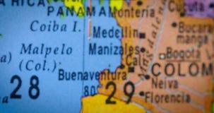 厄瓜多尔国家地区地图特写镜头  股票视频