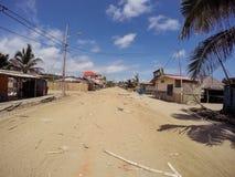 厄瓜多尔大地震,南美 免版税库存照片