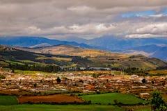 厄瓜多尔村庄 免版税库存图片