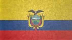 厄瓜多尔的旗子的原始的3D图象 库存照片