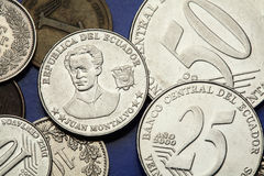 厄瓜多尔的硬币 免版税库存照片