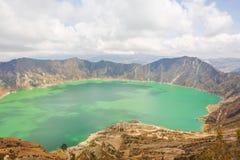 厄瓜多尔盐水湖quilotoa 库存图片