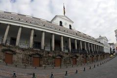 厄瓜多尔重创的国家宫殿广场基多 免版税库存图片
