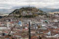 厄瓜多尔,在基多的视图 库存图片