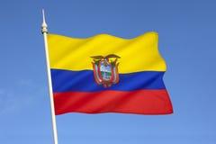 厄瓜多尔-南美旗子  库存照片
