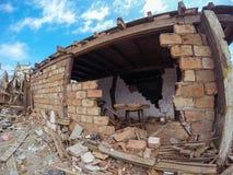 厄瓜多尔4月16日,南美地震  图库摄影