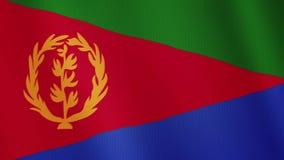 厄立特里亚沙文主义情绪的动画 整个银幕 国家的标志 库存例证
