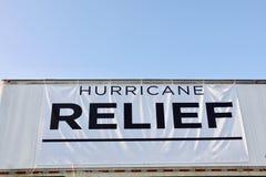 厄马和哈维受害者的飓风安心 库存照片