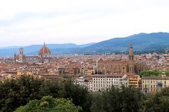 历史、市的艺术和文化佛罗伦萨-意大利001 库存照片
