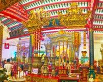 历史中国寺庙在仰光,缅甸 库存照片