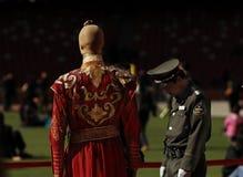 历史中国衣裳 免版税库存图片