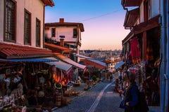 历史义卖市场在安卡拉,土耳其 库存图片