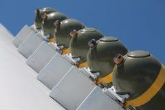 历史二战飞机抽象炸弹  免版税库存图片