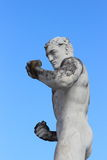 奥林匹克体育雕象-拳击 库存图片