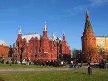历史克里姆林宫莫斯科博物馆塔 图库摄影