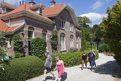 历史公园和房子, s 免版税库存图片