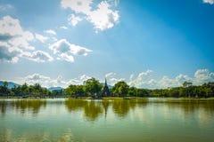 历史公园sukhothai 以前,Sukhothai是泰国的首都兴旺 图库摄影
