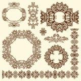 历史利沃夫州的装饰设计元素 免版税图库摄影